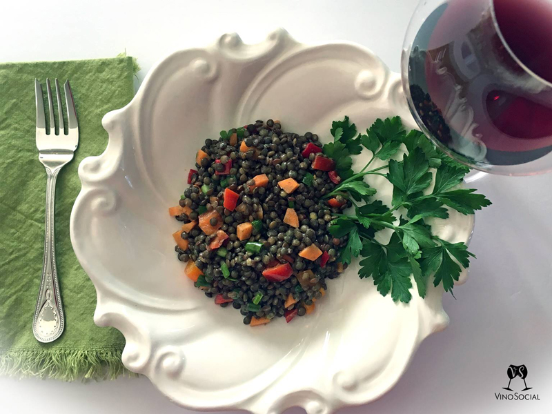 Lentil Salad Recipe and Wine Pairing