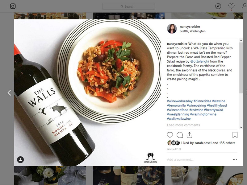 Instagram Post Food and Wine