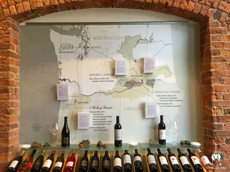 Wine Map and Bottles
