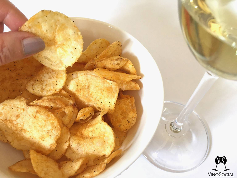 Wine Glass and Snack Food
