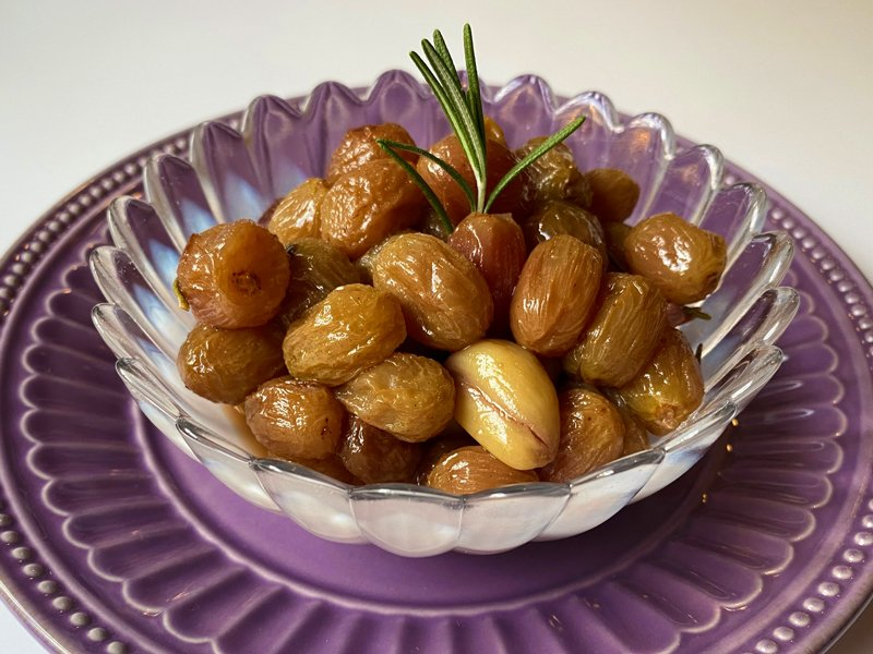 Roasted Grape and Garlic Compote